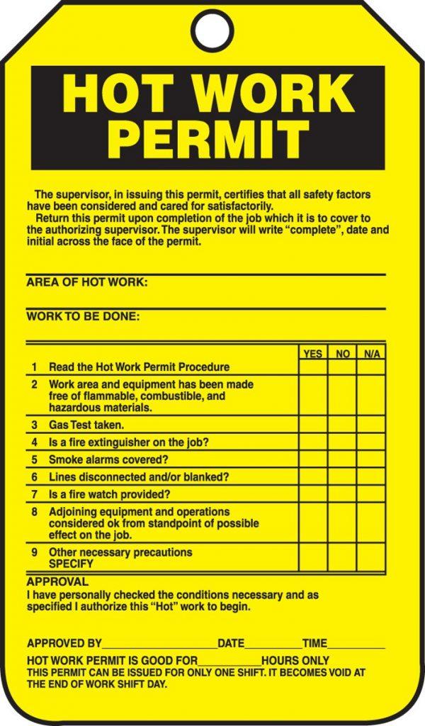 Hot Works Permit