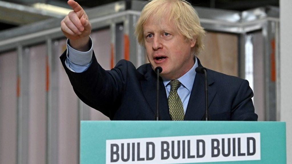 Borris Tells the Construction Industry to Build, Build, Build